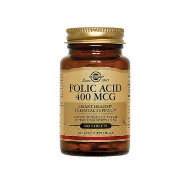 Solgar Folacin (Folic Acid) 400μg 100 Ταμπλέτες - Συμπληρώματα Διατροφής στο Pharmeden.gr - Online Φαρμακείο