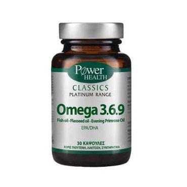 Power Health Classics Platinum Omega 3.6.9 30caps - Συμπληρώματα Διατροφής στο Pharmeden.gr - Online Φαρμακείο
