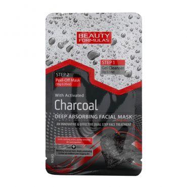Beauty Formulas Activated Charcoal Deep Absorbing Facial Mask 3g+10g - Πρόσωπο στο Pharmeden.gr - Online Φαρμακείο