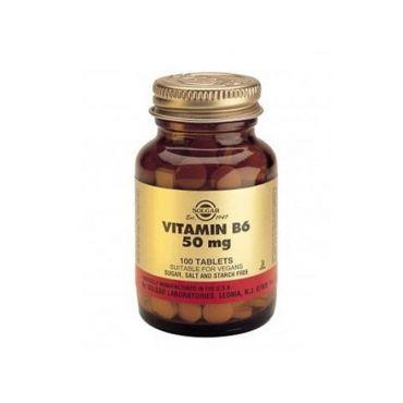 Solgar Vitamin B-6  50mg 100 tabs - Βιταμίνες στο Pharmeden.gr - Online Φαρμακείο