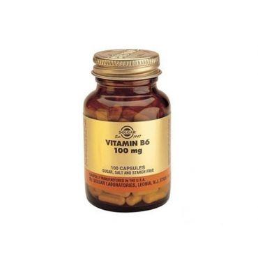 Solgar Vitamin B-6 100mg 100 veg. caps - Βιταμίνες στο Pharmeden.gr - Online Φαρμακείο