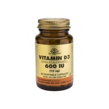 Solgar Vitamin D-3  600 IU 60 veg. caps - Βιταμίνες στο Pharmeden.gr - Online Φαρμακείο