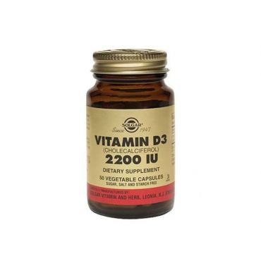 Solgar Vitamin D-3 2200 IU 100 veg. caps - Βιταμίνες στο Pharmeden.gr - Online Φαρμακείο