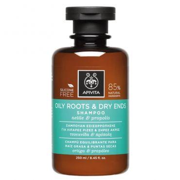 Apivita Σαμπουάν Εξισορρόπησης για Λιπαρές Ρίζες & Ξηρές Άκρες με Τσουκνίδα & Πρόπολη 250ml - Μαλλιά στο Pharmeden.gr - Online Φαρμακείο