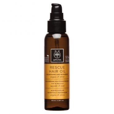 Apivita Rescue Oil Λάδι Θρέψης & Επανόρθωσης για τα Μαλλιά με Αργκάν & Ελιά 100ml - Μαλλιά στο Pharmeden.gr - Online Φαρμακείο