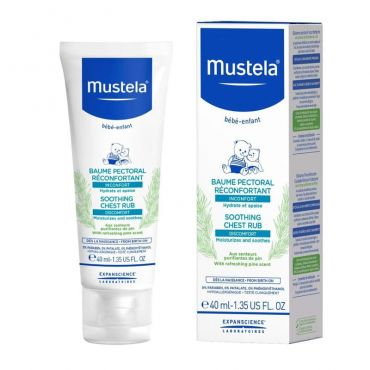 Mustela Soothing Chest Rub 40ml - Διάφορα στο Pharmeden.gr - Online Φαρμακείο