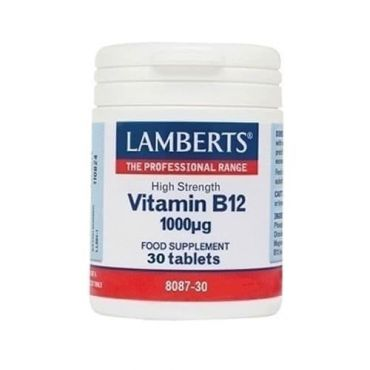 Lamberts B-12 1000mcg ( Methilcobalamin ) 30 tabs - Συμπληρώματα Διατροφής στο Pharmeden.gr - Online Φαρμακείο