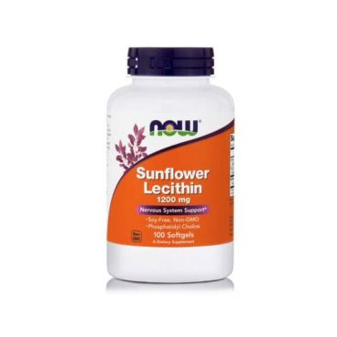 Now Foods Lecithin Sunflower 1200 mg Soy-Free 100 Softgels - Συμπληρώματα Διατροφής στο Pharmeden.gr - Online Φαρμακείο