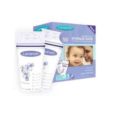 Lansinoh Σακουλάκια Αποθήκευσης Μητρικού Γάλακτος 180ml 50 τεμ - Μαμά στο Pharmeden.gr - Online Φαρμακείο