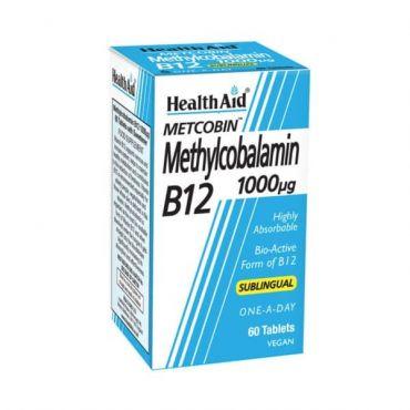 Health Aid Metcobin B12 1000μg 60 tabs - Βιταμίνες στο Pharmeden.gr - Online Φαρμακείο