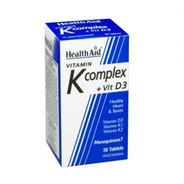Health Aid Vitamin K Complex + Vit. D3 30 tabs - Βιταμίνες στο Pharmeden.gr - Online Φαρμακείο