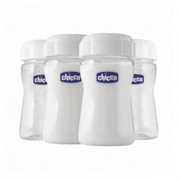Chicco Μπουκάλια Διατήρησης Μητρικού Γάλακτος 4τμχ - Αξεσουάρ για Μωρά στο Pharmeden.gr - Online Φαρμακείο
