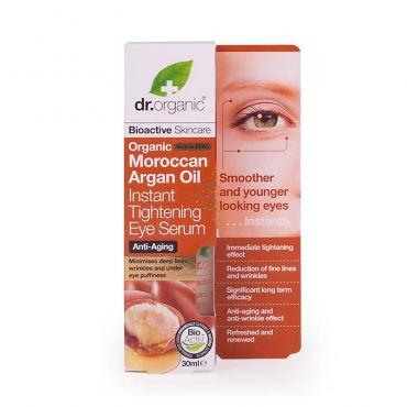 Dr. Organic Argan Oil Instant Tightening Eye Serum 30ml - Πρόσωπο στο Pharmeden.gr - Online Φαρμακείο
