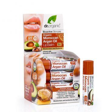 Dr. Organic Argan Oil Lip Balm 5,7ml - Μακιγιάζ στο Pharmeden.gr - Online Φαρμακείο