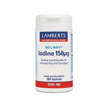 Lamberts Iodine150mcg 180 tabs - Συμπληρώματα στο Pharmeden.gr - Online Φαρμακείο