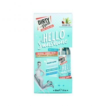 Dirty Works Hello Sunshine Face & Body Gradual Tanning Drops Argan Oil 30ml - Αντηλιακά στο Pharmeden.gr - Online Φαρμακείο