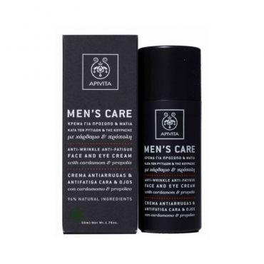 Apivita Men's Care Κρέμα για Πρόσωπο & Μάτια με Κάρδαμο & Πρόπολη 50ml - Πρόσωπο στο Pharmeden.gr - Online Φαρμακείο
