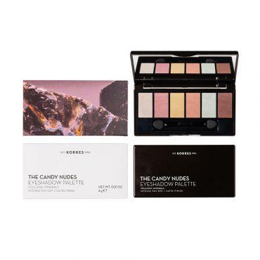 Korres Volcanic Minerals Eyeshadow Palette The Candy Nudes - Μακιγιάζ στο Pharmeden.gr - Online Φαρμακείο