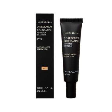 Korres Activated Charcoal Corrective Foundation ACF3 30ml - Μακιγιάζ στο Pharmeden.gr - Online Φαρμακείο