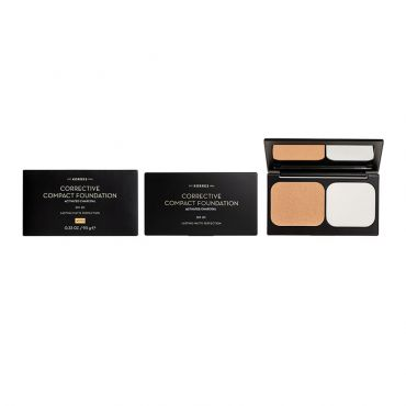 Korres Activated Charcoal Corrective Compact Foundation ACCF2 SPF20 9.5 g - Μακιγιάζ στο Pharmeden.gr - Online Φαρμακείο