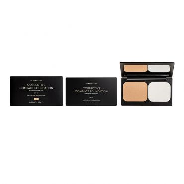Korres Activated Charcoal Corrective Compact Foundation ACCF1 SPF20 9.5 g - Μακιγιάζ στο Pharmeden.gr - Online Φαρμακείο