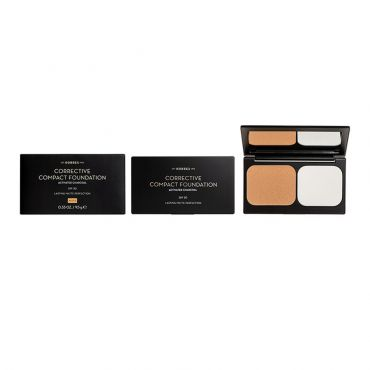 Korres Activated Charcoal Corrective Compact Foundation ACCF3 SPF20 9.5 g - Μακιγιάζ στο Pharmeden.gr - Online Φαρμακείο