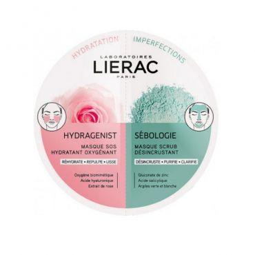 Lierac Duo Masques Hydragenist & Sebologie 2x6ml - Πρόσωπο στο Pharmeden.gr - Online Φαρμακείο
