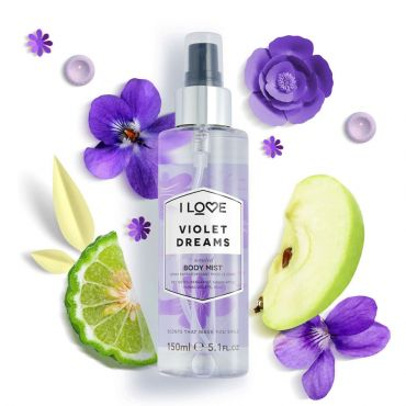 I Love Cosmetics Violet Dreams Body Mist 150ml - Καλλυντικά στο Pharmeden.gr - Online Φαρμακείο
