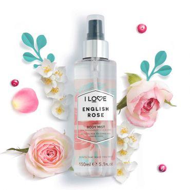 I Love Cosmetics English Rose Body Mist 150ml - Καλλυντικά στο Pharmeden.gr - Online Φαρμακείο