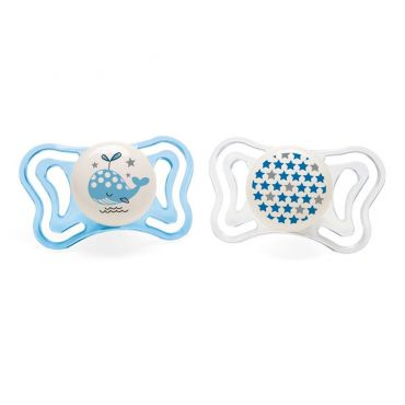 Chicco Πιπίλα Light Νύχτας Μπλε Φαλαινίτσα Ηλικία 2-6 μηνών 2 τεμ - Αξεσουάρ για Μωρά στο Pharmeden.gr - Online Φαρμακείο