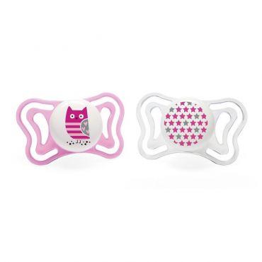 Chicco Πιπίλα Light Ροζ Κουκουβάγια Ηλικία 6-16 μηνών 2 τεμ - Αξεσουάρ για Μωρά στο Pharmeden.gr - Online Φαρμακείο