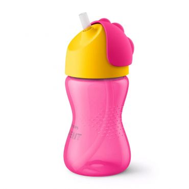 Avent Bendy Pink Straw Cup 12m+ 300ml - Αξεσουάρ για Μωρά στο Pharmeden.gr - Online Φαρμακείο