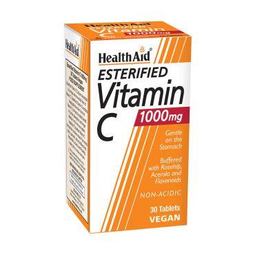 Health Aid Esterfield Vitamin  C 1000mg 30tabs - Βιταμίνες στο Pharmeden.gr - Online Φαρμακείο