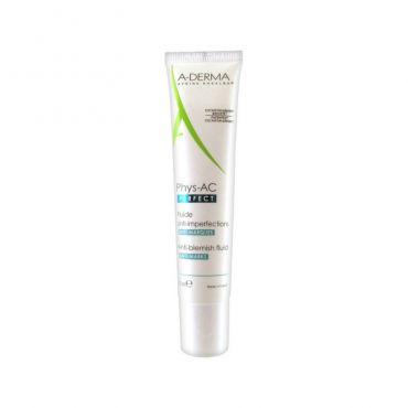 A-Derma Phys-AC Perfect Anti-Blemish Fluid 40ml - Πρόσωπο στο Pharmeden.gr - Online Φαρμακείο