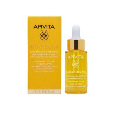 Apivita Beessentials Oils Έλαιο Προσώπου Ημέρας Συμπλήρωμα Ενδυνάμωσης & Ενυδάτωσης της Επιδερμίδας 15ml - Πρόσωπο στο Pharmeden.gr - Online Φαρμακείο