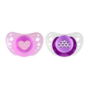 Chicco Πιπίλα Physio Air Σιλικόνη Ροζ 6-16m+ 2 τεμ - Αξεσουάρ για Μωρά στο Pharmeden.gr - Online Φαρμακείο