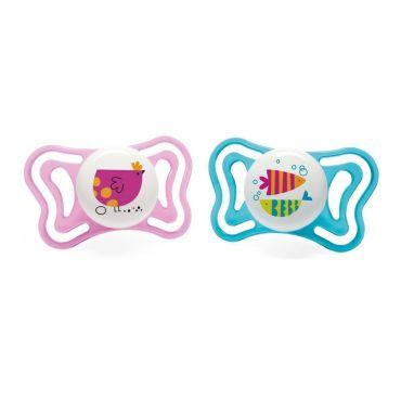 Chicco Πιπίλα Light Ροζ Κοτοπουλάκι-Ψαράκια Ηλικία 16-36 μηνών 2 τεμ - Αξεσουάρ για Μωρά στο Pharmeden.gr - Online Φαρμακείο