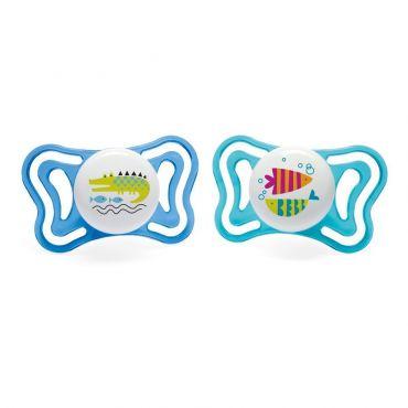 Chicco Πιπίλα Light Μπλε Ψαράκια / Κροκόδειλος Ηλικία 16-36 μηνών 2 τεμ - Αξεσουάρ για Μωρά στο Pharmeden.gr - Online Φαρμακείο