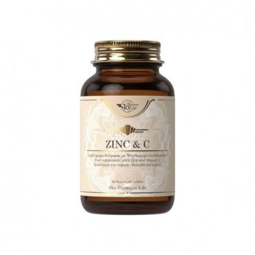 Sky Premium Life Zinc & Vitamin C 60 ταμπλέτες - Συμπληρώματα Διατροφής στο Pharmeden.gr - Online Φαρμακείο