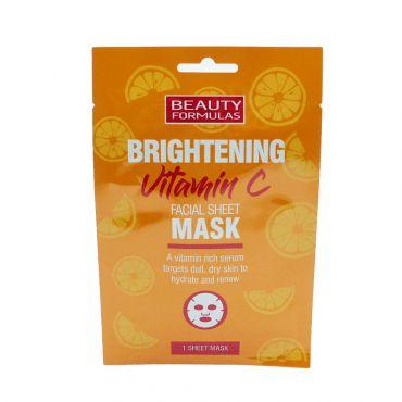 Beauty Formulas Vitamin C Facial Sheet Mask 1 τεμ - Πρόσωπο στο Pharmeden.gr - Online Φαρμακείο