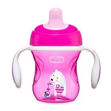 Chicco Ποτηράκι Εκπαιδευτικό Training Cup Ροζ 6m+ 200ml 1τεμ - Αξεσουάρ για Μωρά στο Pharmeden.gr - Online Φαρμακείο