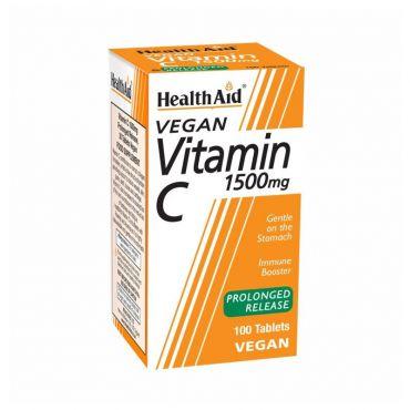 Health Aid Vitamin C 1500mg 100 tabs - Βιταμίνες στο Pharmeden.gr - Online Φαρμακείο