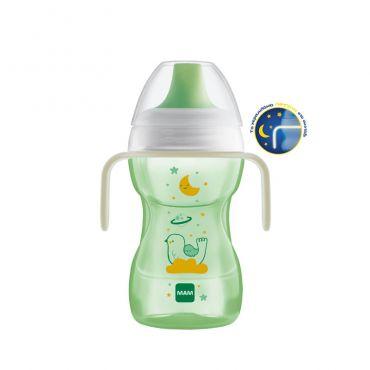 Mam Fun to Drink Cup Night 8 μηνών+ Πράσινο 270ml - Αξεσουάρ για Μωρά στο Pharmeden.gr - Online Φαρμακείο