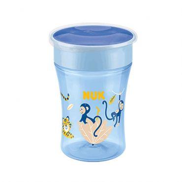 Nuk Easy Magic Cup με Χείλος και Καπάκι Μπλε 8m+ 230ml - Αξεσουάρ για Μωρά στο Pharmeden.gr - Online Φαρμακείο