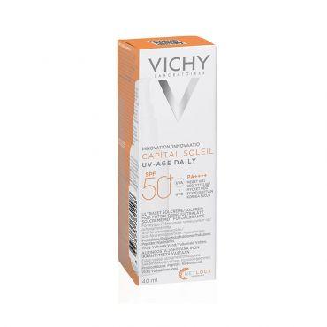 Vichy Capital Soleil UV-Age Daily SPF50+ Water Fluid 50ml - Αντηλιακά στο Pharmeden.gr - Online Φαρμακείο