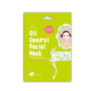 Cettua Clean & Simple Oil Control Facial Mask 1 τεμ - Πρόσωπο στο Pharmeden.gr - Online Φαρμακείο