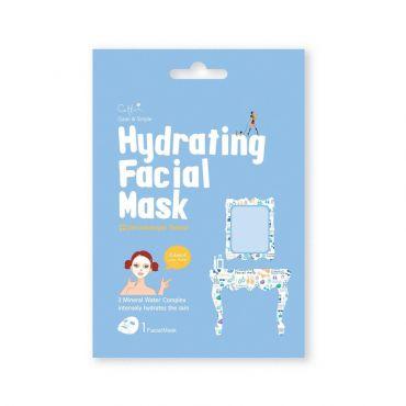 Cettua Clean & Simple Hydrating Facial Mask  1 τεμ - Πρόσωπο στο Pharmeden.gr - Online Φαρμακείο