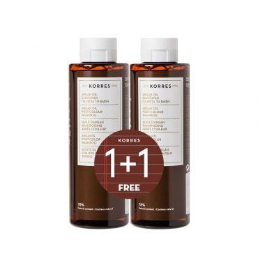 Korres Shampoo Argan Oil Σαμπουάν για μετά την Βαφή 2x250ml - Μαλλιά στο Pharmeden.gr - Online Φαρμακείο