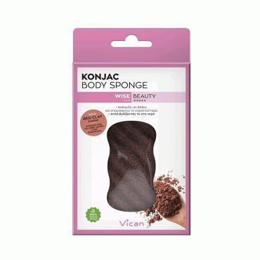 Vican Wise Beauty Konjac Body Sponge Red Clay Powder - Σώμα στο Pharmeden.gr - Online Φαρμακείο