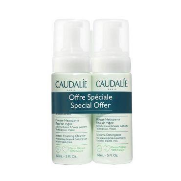 Caudalie Special Offer Vinoclean Instant Foaming Cleanser 2x150ml - Πρόσωπο στο Pharmeden.gr - Online Φαρμακείο